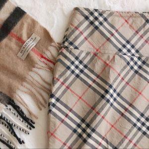 {Burberry} nova check pencil skirt